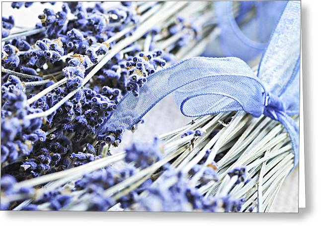 Dried Lavender Greeting Card by Elena Elisseeva