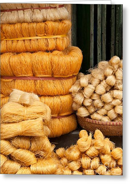 Dried Rice Noodles 01 Greeting Card by Rick Piper Photography