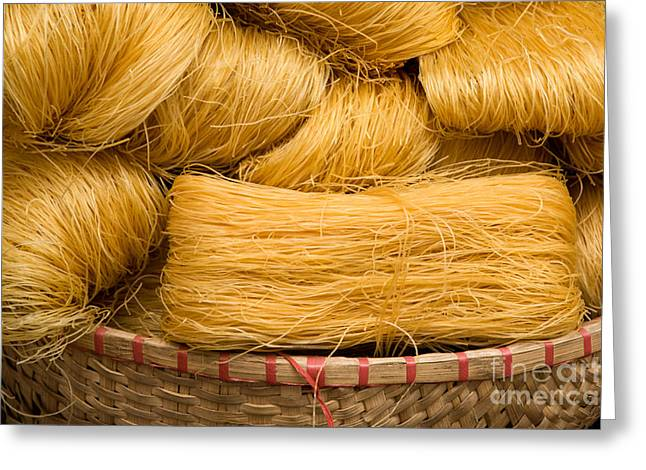 Dried Rice Noodles 04 Greeting Card by Rick Piper Photography