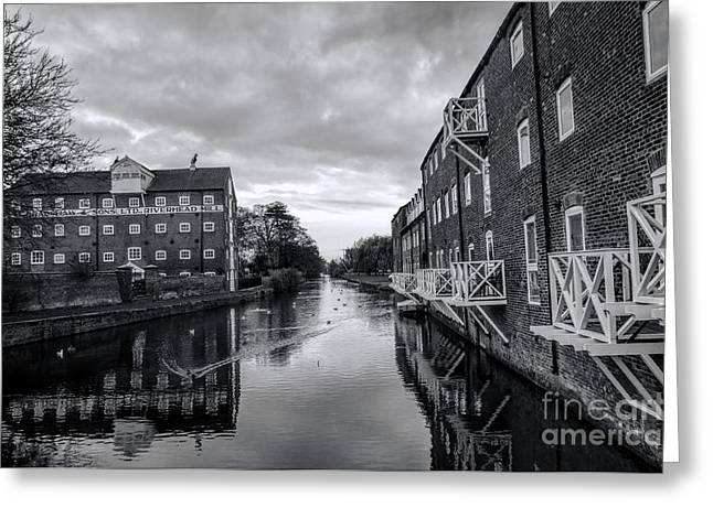 Driffield Refurbished Canal Basin Greeting Card