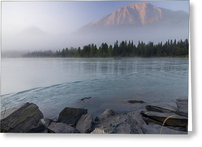 Drift Boat On The Outlet Of Kenai Lake Greeting Card by Kent Fredriksson