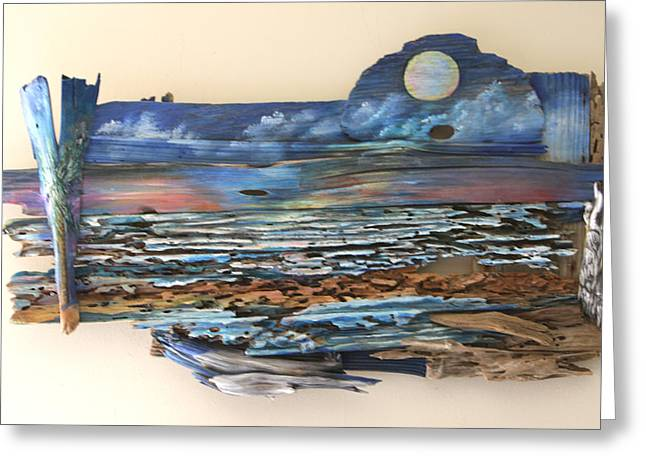 Drift Wood Art  Greeting Card