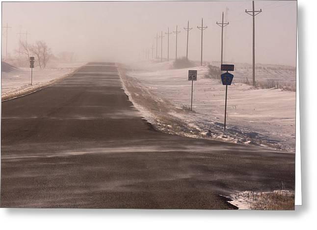 Drifting County 23 Greeting Card by Wayne Vedvig