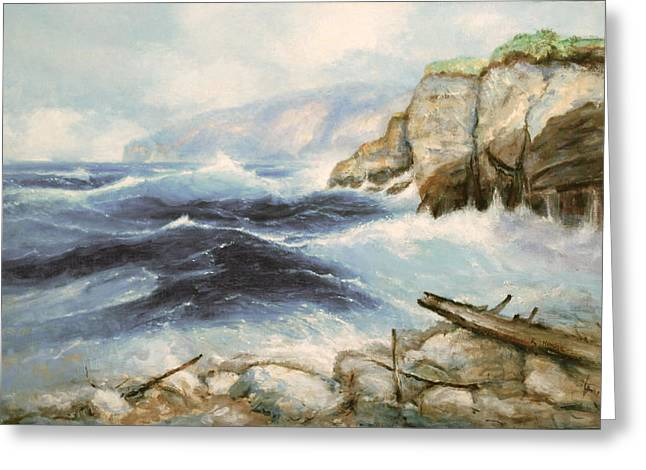 Driftwood Cliffs Greeting Card