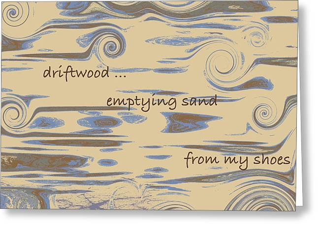 Driftwood Haiga Greeting Card