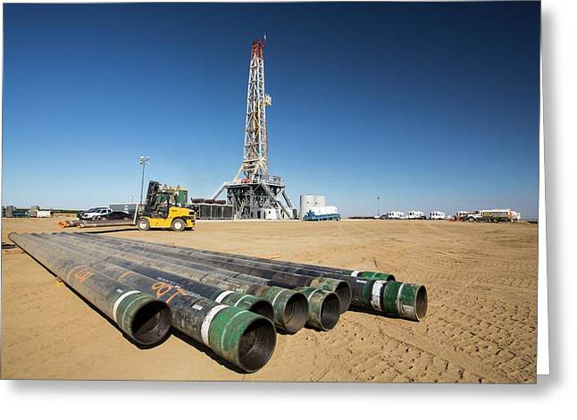 Drilling For Oil Greeting Card