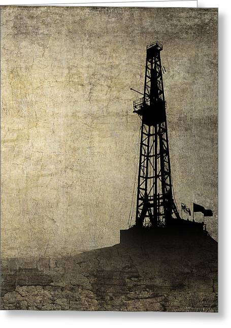 Drilling Isolation Greeting Card by Daniel Hagerman