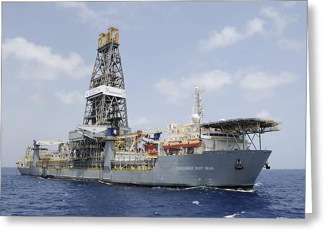Drillship Discoverer Deep Seas Greeting Card