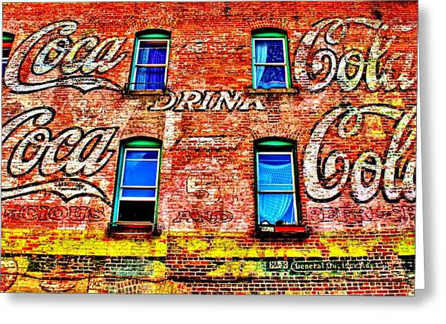 Drink Coca-cola Greeting Card by Benjamin Yeager