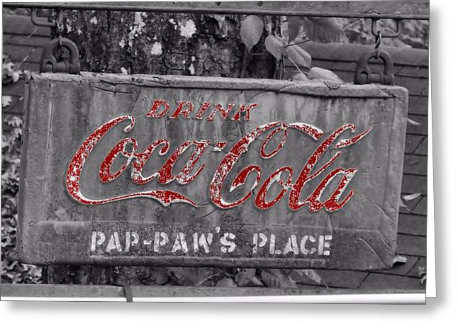 Drink Coca Cola Greeting Card by Dan Sproul