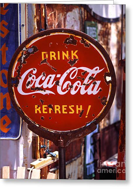 Drink Coca-cola Sign Greeting Card