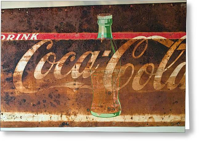 Drink Coca-cola Greeting Card by Tikvah's Hope