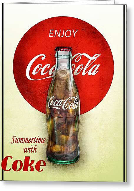 Drink Ice Cold Coke 2 Greeting Card