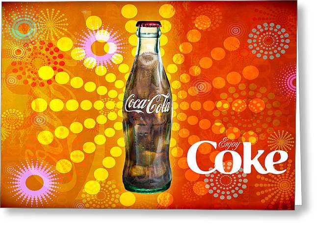 Greeting Card featuring the photograph Drink Ice Cold Coke 4 by James Sage