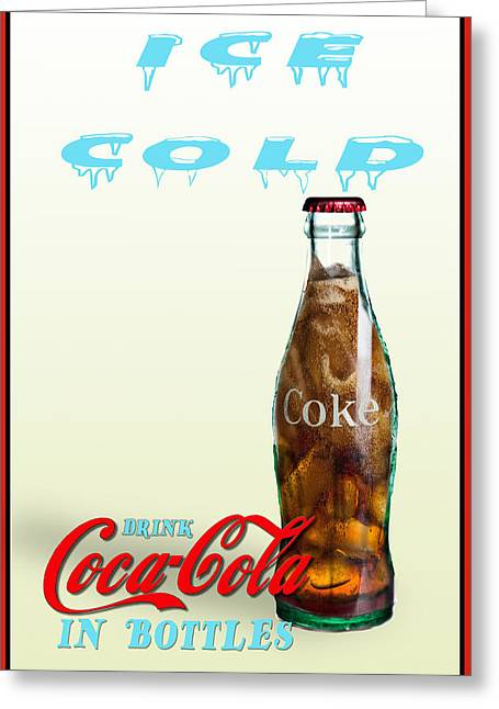 Drink Ice Cold Coke Greeting Card
