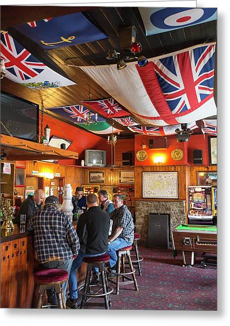 Drinkers In The Globe Tavern Greeting Card by Ashley Cooper