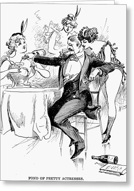 Drinking, 1895 Greeting Card by Granger