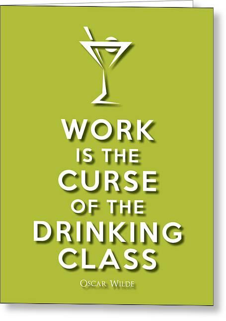 Drinking Class Green Greeting Card