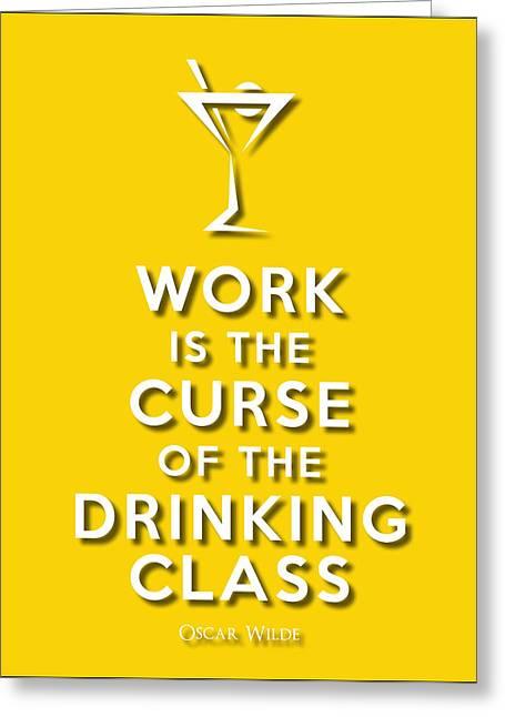 Drinking Class Yellow Greeting Card