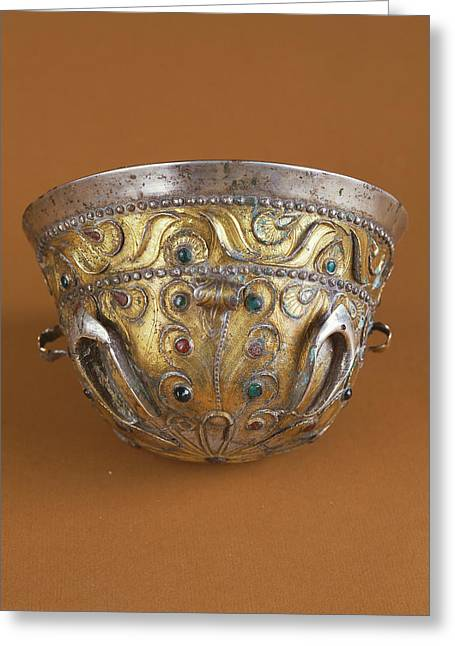 Drinking Cup Unknown Bactrian Empire 1st Century B Greeting Card by Litz Collection