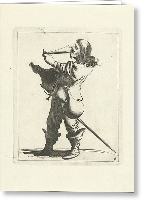 Drinking Fool, Pieter Jansz Greeting Card