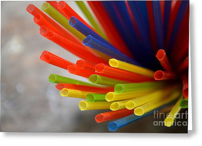 Drinking Straws Greeting Card by Antoni Halim