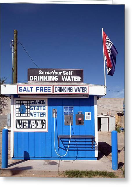 Drinking Water Vending Machine Greeting Card by Jim West