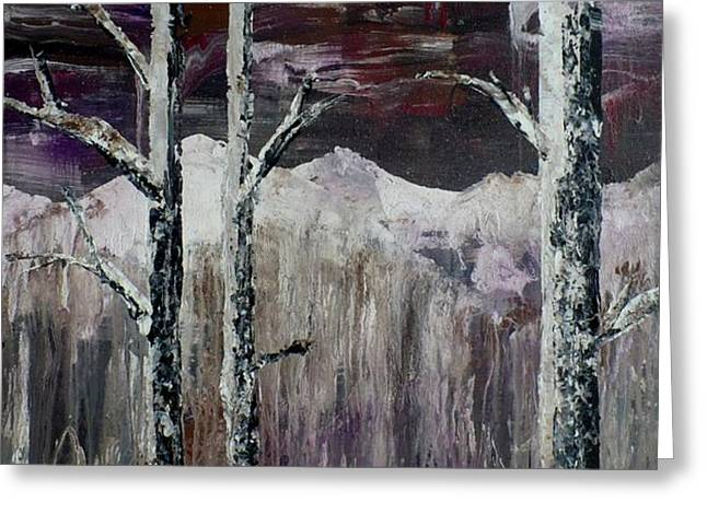 Dripping Aspen Greeting Card by Chad Rice