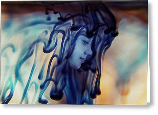 Dripping Existence Greeting Card by Stephanie Hollingsworth