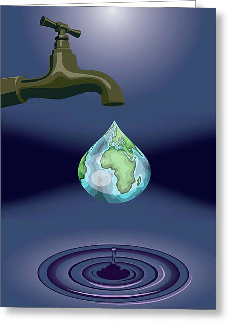 Dripping Tap Greeting Card by Fanatic Studio / Science Photo Library