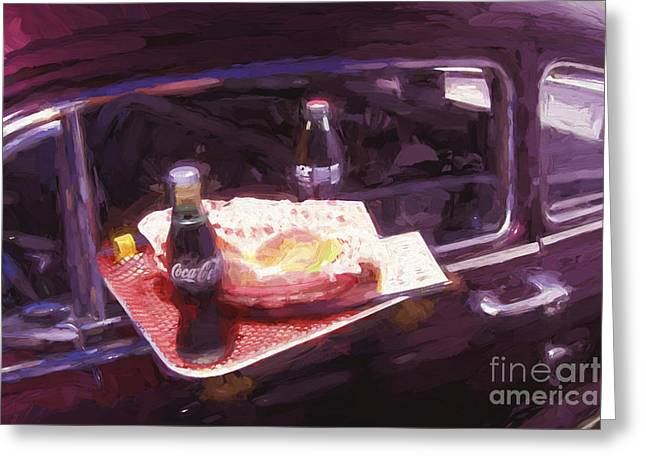 Drive-in Coke And Burgers - 2 Greeting Card by Paul W Faust -  Impressions of Light
