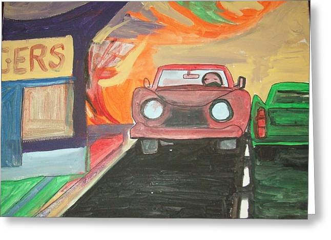 Drive In  Greeting Card by James Christiansen