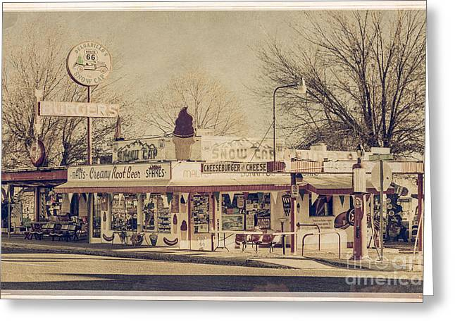 Drive-in On Route 66 Greeting Card