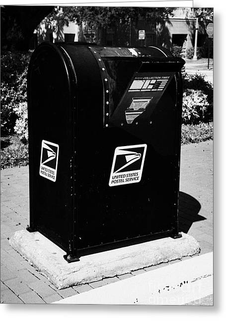 Drive Past Curbside Snorkel Chute Collection Mailbox Usps Celebration Florida Usa Greeting Card by Joe Fox