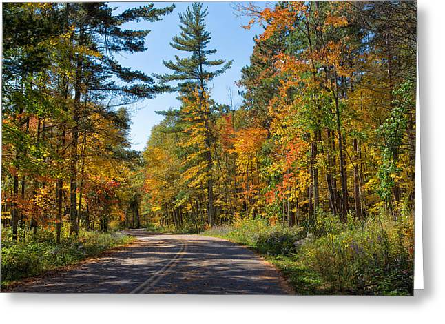 Drive Through Splendor In Minnesota Greeting Card