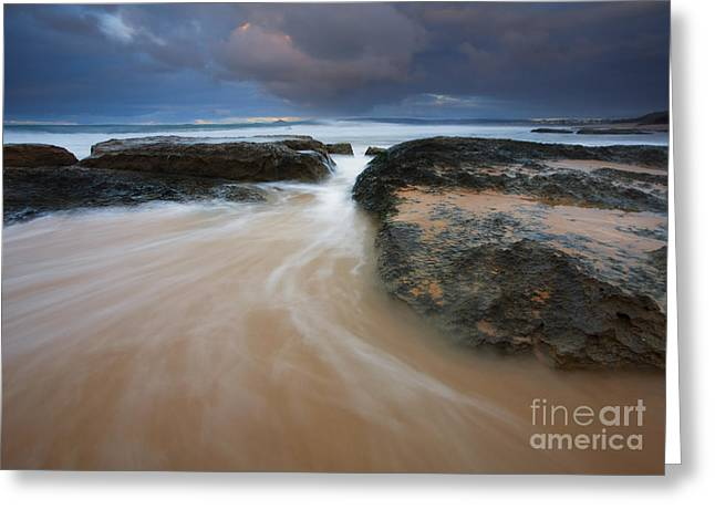 Driven Between The Rocks Greeting Card by Mike Dawson