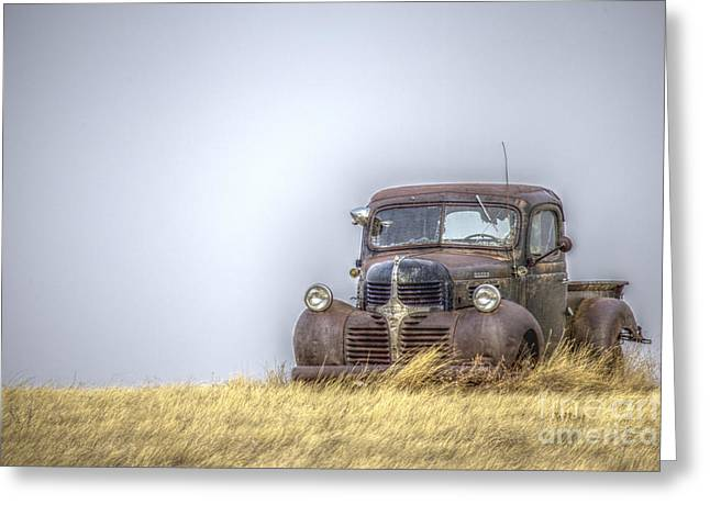 A Rusty Abandoned Truck Near Sturgis South Dakota Greeting Card
