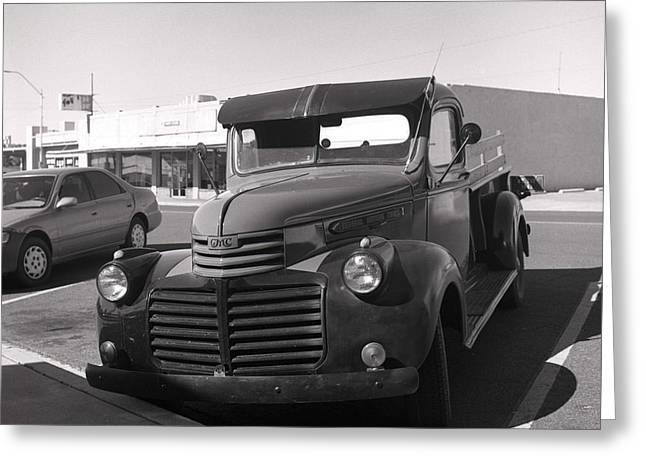 Driving A Relic - Film Greeting Card by Greg Larson