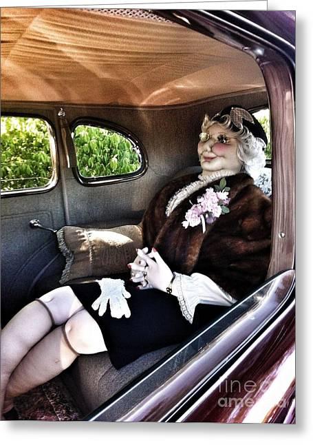 Driving Miss Daizee Greeting Card