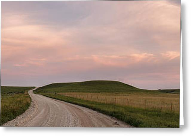 Driving Through The Flint Hills Greeting Card