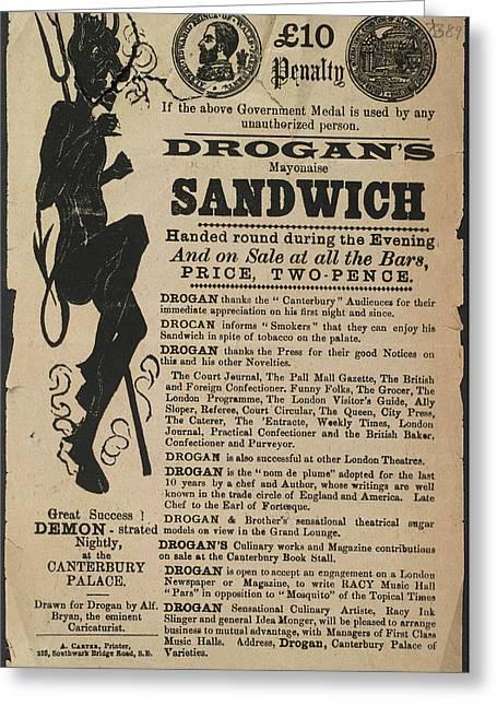 Drogan's Mayonaise Sandwich Greeting Card by British Library