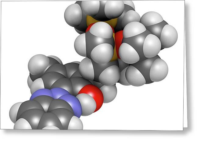 Drometrizole Trisiloxane Molecule Greeting Card