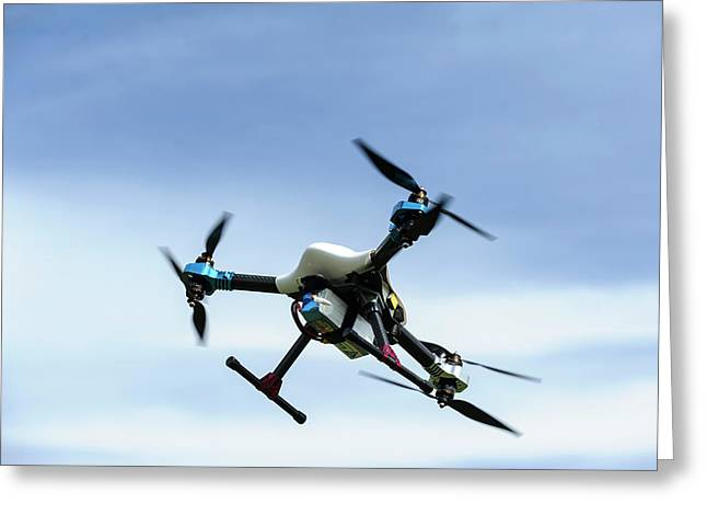 Drone In Flight Greeting Card