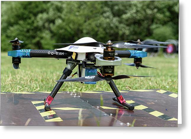Drone On The Ground Greeting Card