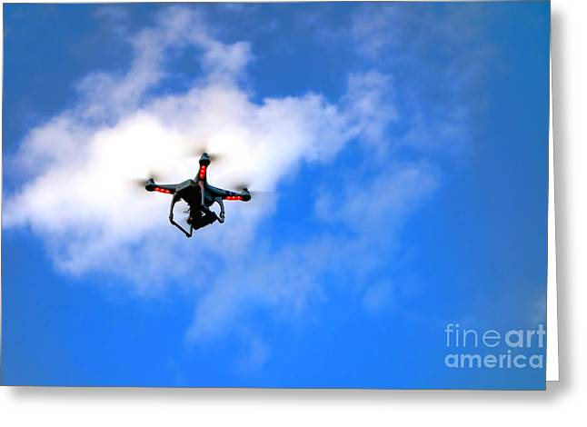 Droning Greeting Card by Olivier Le Queinec