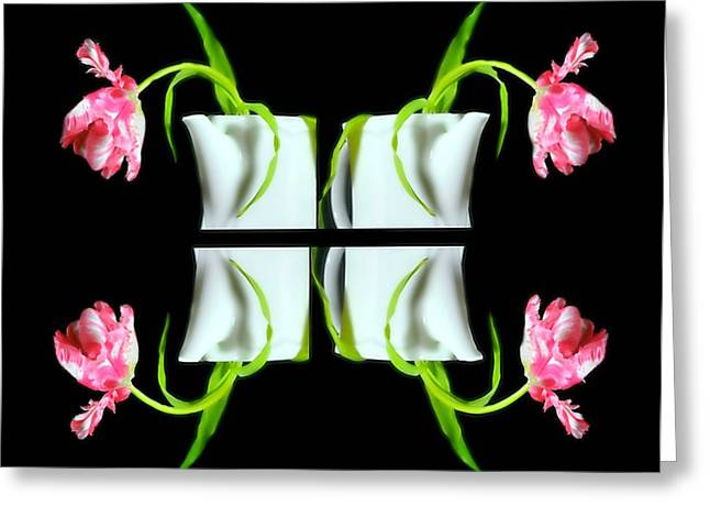Droopy Tulips Greeting Card by Diana Angstadt