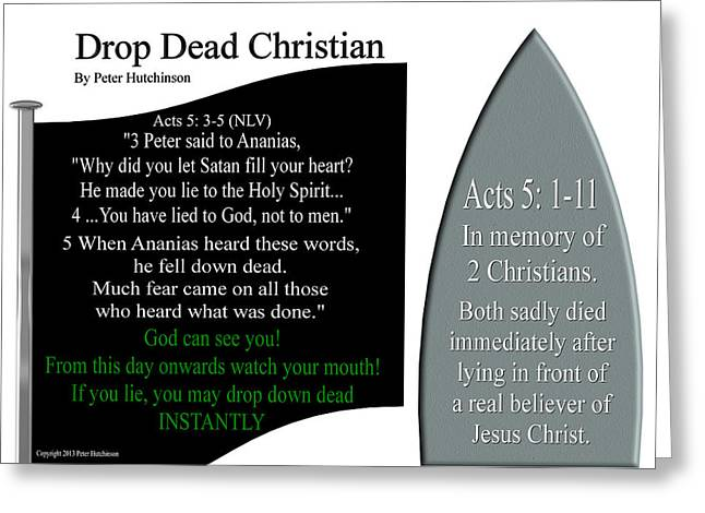 Drop Dead Christian Greeting Card