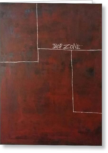 Drop Zone Greeting Card by Greg Harrington
