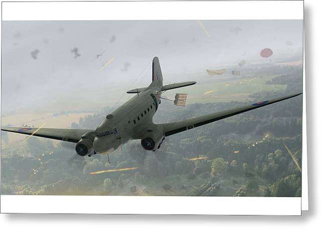 Drop Zone Victor Greeting Card by Hangar B Productions