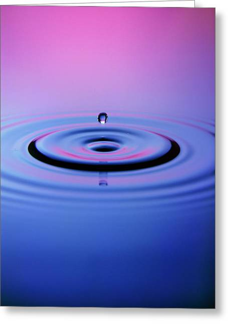 Droplet Impacting On Water Greeting Card